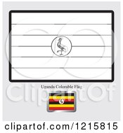 Coloring Page And Sample For A Uganda Flag