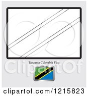 Clipart Of A Coloring Page And Sample For A Tanzania Flag Royalty Free Vector Illustration