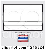 Clipart Of A Coloring Page And Sample For A Thailand Flag Royalty Free Vector Illustration