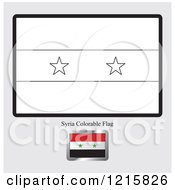Clipart Of A Coloring Page And Sample For A Syria Flag Royalty Free Vector Illustration