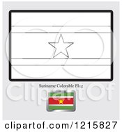 Coloring Page And Sample For A Suriname Flag