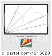 Clipart Of A Coloring Page And Sample For A Seychelles Flag Royalty Free Vector Illustration