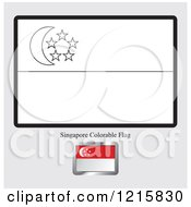 Coloring Page And Sample For A Singapore Flag