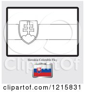 Coloring Page And Sample For A Slovakia Flag