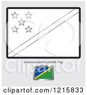 Coloring Page And Sample For A Solomon Island Flag