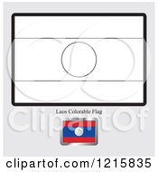 Coloring Page And Sample For A Laos Flag