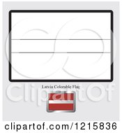 Clipart Of A Coloring Page And Sample For A Latvia Flag Royalty Free Vector Illustration