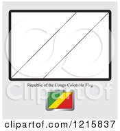 Coloring Page And Sample For A Republic Of The Congo Flag