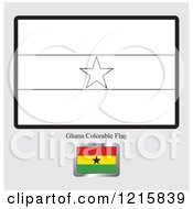 Coloring Page And Sample For A Ghana Flag