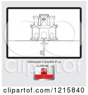 Coloring Page And Sample For A Gibraltar Flag