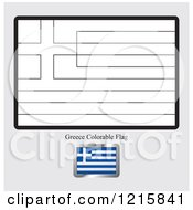 Coloring Page And Sample For A Greece Flag