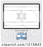 Coloring Page And Sample For An Israel Flag