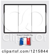 Coloring Page And Sample For A France Flag