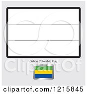 Coloring Page And Sample For A Gabon Flag