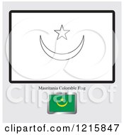 Coloring Page And Sample For A Mauritania Flag