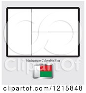 Coloring Page And Sample For A Madagascar Flag