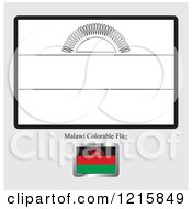 Coloring Page And Sample For A Malawi Flag