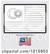 Coloring Page And Sample For A Malaysia Flag