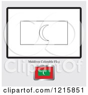 Coloring Page And Sample For A Maldives Flag