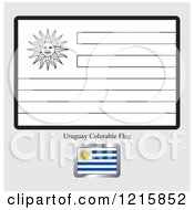 Coloring Page And Sample For A Uruguay Flag