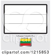 Coloring Page And Sample For A Lithuania Flag