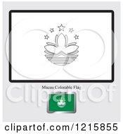 Coloring Page And Sample For A Macau Flag