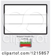 Clipart Of A Coloring Page And Sample For A Bulgaria Flag Royalty Free Vector Illustration