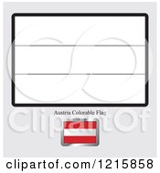 Clipart Of A Coloring Page And Sample For An Austria Flag Royalty Free Vector Illustration