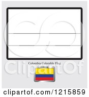 Coloring Page And Sample For A Colombia Flag