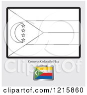 Coloring Page And Sample For A Comoros Flag