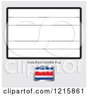 Coloring Page And Sample For A Costa Rica Flag