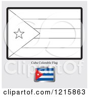 Coloring Page And Sample For A Cuba Flag