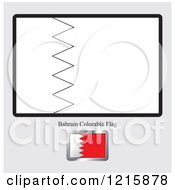 Coloring Page And Sample For A Bahrain Flag