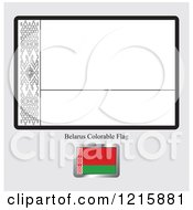 Clipart Of A Coloring Page And Sample For A Belarus Flag Royalty Free Vector Illustration