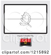 Coloring Page And Sample For An Angola Flag