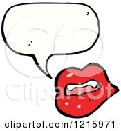 Cartoon Of Speaking Vampire Lips Royalty Free Vector Illustration by lineartestpilot