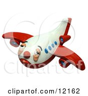 Clay Sculpture Clipart Sick And Tired Airplane Royalty Free 3d Illustration by Amy Vangsgard