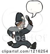Cartoon Of A Cop Royalty Free Vector Illustration by lineartestpilot