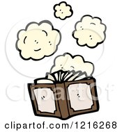 Cartoon Of A Dusty Book Royalty Free Vector Illustration by lineartestpilot