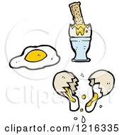 Cartoon Of A Broken Egg Royalty Free Vector Illustration