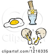 Cartoon Of A Broken Egg Royalty Free Vector Illustration by lineartestpilot