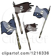 Cartoon Of Pirate Flags Royalty Free Vector Illustration by lineartestpilot