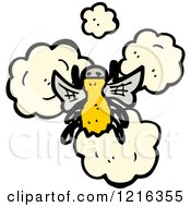 Cartoon Of A Fly Royalty Free Vector Illustration by lineartestpilot