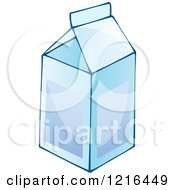 Clipart Of A Milk Carton Royalty Free Vector Illustration