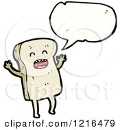 Cartoon Of A Slice Of Bread Speaking Royalty Free Vector Illustration by lineartestpilot