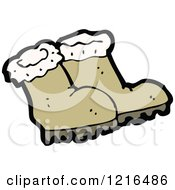 Cartoon Of A Pair Of Boots Royalty Free Vector Illustration by lineartestpilot