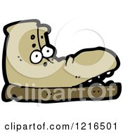 Cartoon Of A Boot Royalty Free Vector Illustration by lineartestpilot