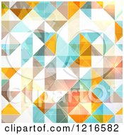 Clipart Of A Diamond Geometric Background Royalty Free Vector Illustration