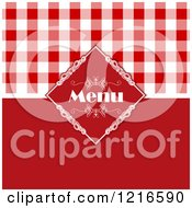 Red Italian Menu Cover With Gingham Plaid