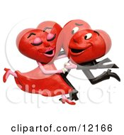 Clay Sculpture Clipart Heart Couple Dancing Royalty Free 3d Illustration